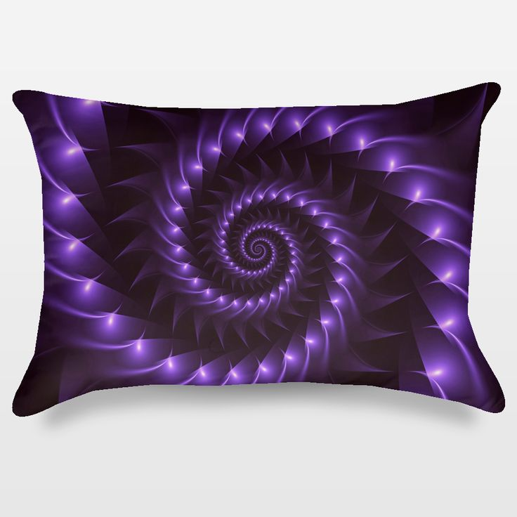 Fun Indie Art from BoomBoomPrints.com! https://www.boomboomprints.com/Product/kittybitty/Glossy_Purple_Spiral/Throw_Pillows/Rectangular-_14x20/