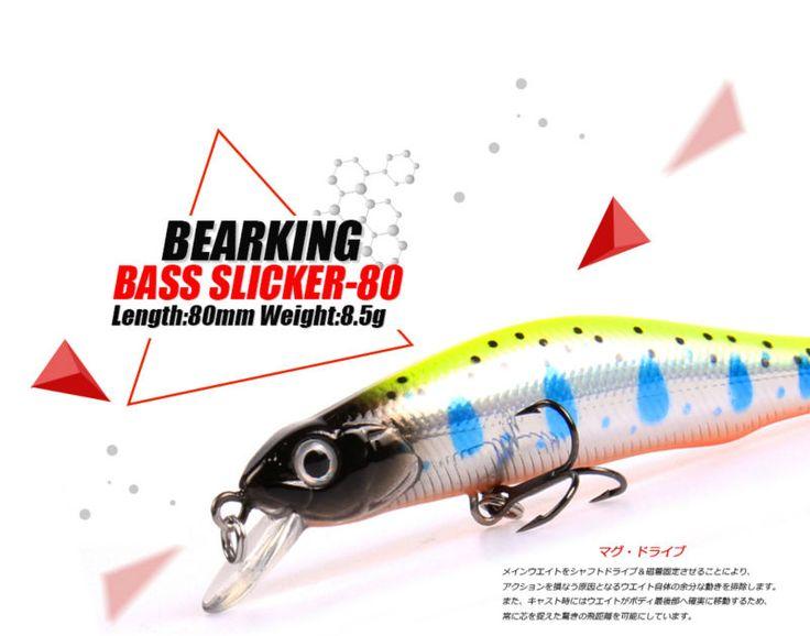 Fishing Lures  Retail A  fishing lures, assorted colors, minnow crank  80mm 8.5g,magnet system. bearking 2016 hot model crank bait <3 Ceci est une broche d'affiliation AliExpress.  Cliquez sur l'image pour en savoir plus