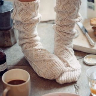 Chunky socks for keeping toes warm