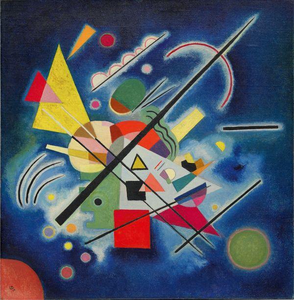 Wassily Kandinsky - Peinture bleue, 1924.