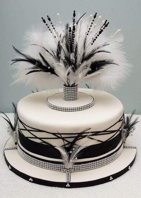 1000 ideas about art deco cake on pinterest art deco - Deco murale noir et blanc ...