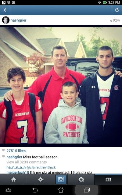 Love Ya Nash, Hayes, And Will Grier!