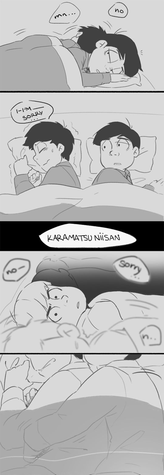 [Click through to read the rest!] Ichimatsu and Karamatsu ||| Osomatsu-san Fan Art by kore-chan on Tumblr