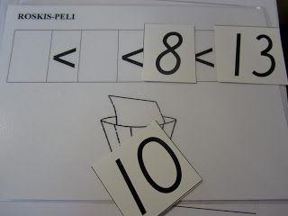 Open ideat - Roskispeli (lukujen suuruusvertailu, alkuopetus).