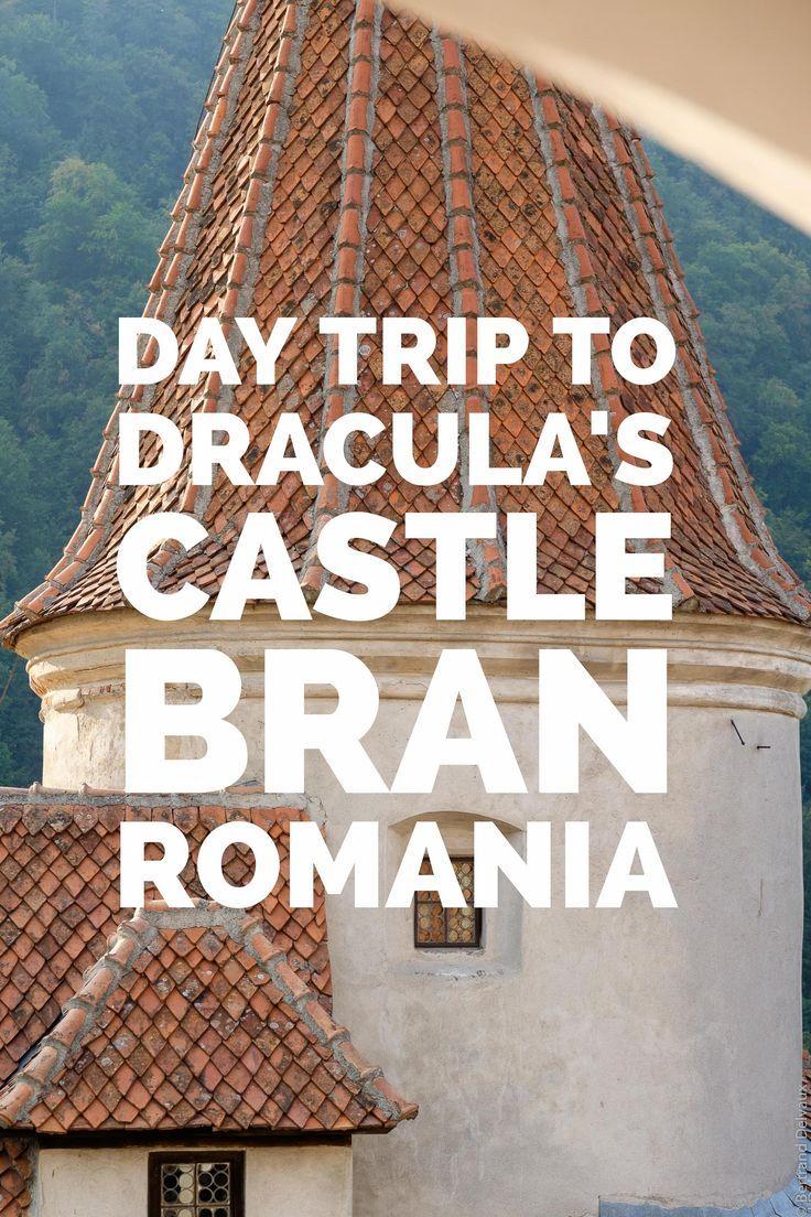 Visiting Draculas Castle, Romania.