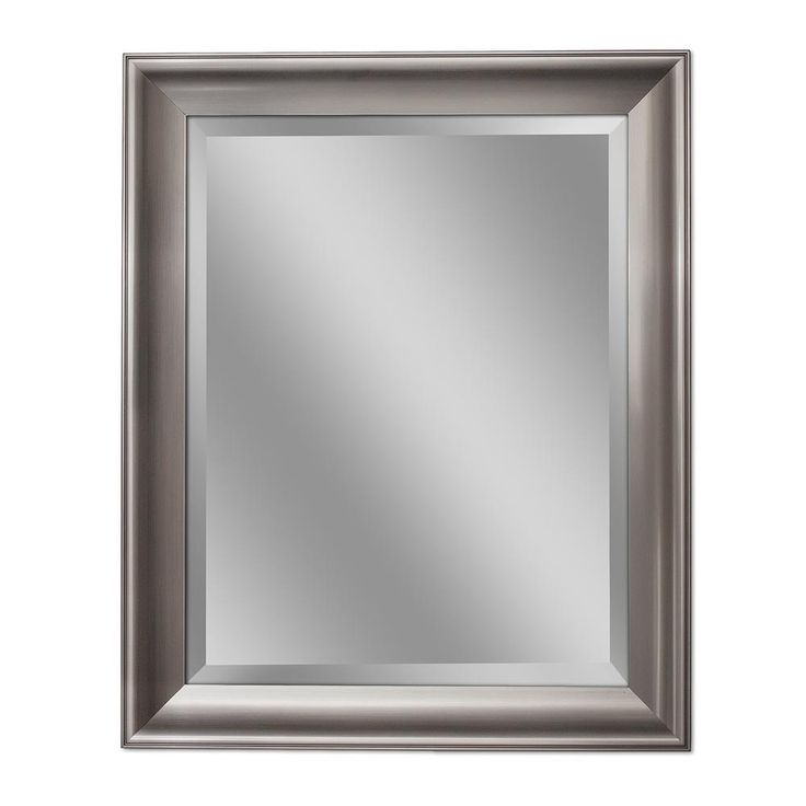 Deco Mirror 29.5 in. W x 41.5 in. H Transitional Wall Mirror in Brush Nickel