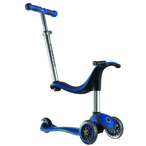 4-in-1 Globber Scooter is adjustable and can be enjoyed for many years! From the first stage of foot-to-floor ride-on --- all the way to a full scooter! http://www.mastermindtoys.com/Scooters-Globber-MyFree-4-in-1.aspx