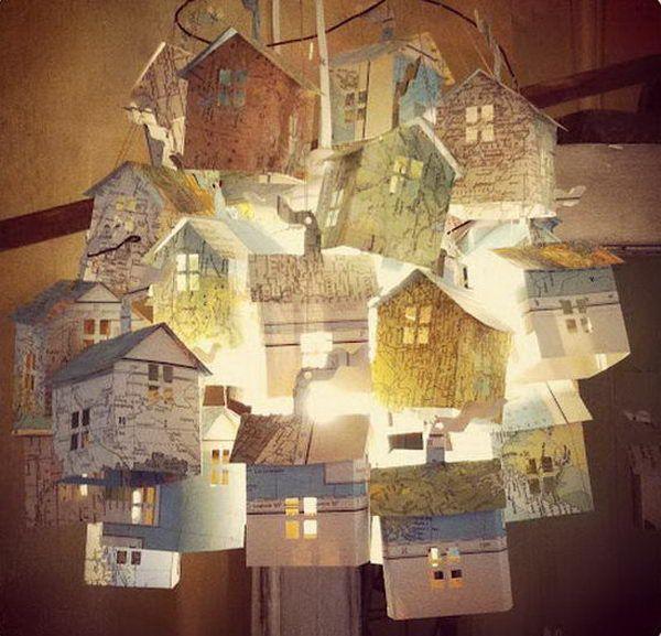 Paper House Lights - 20 Cool Basement Lighting Ideas, http://hative.com/cool-basement-lighting-ideas/,