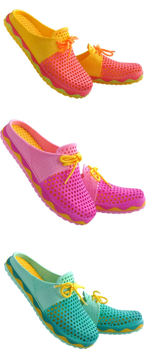 US$12.33 Big Size Hollow Out Bowknot Breathable Backless Flat Casual Shoes