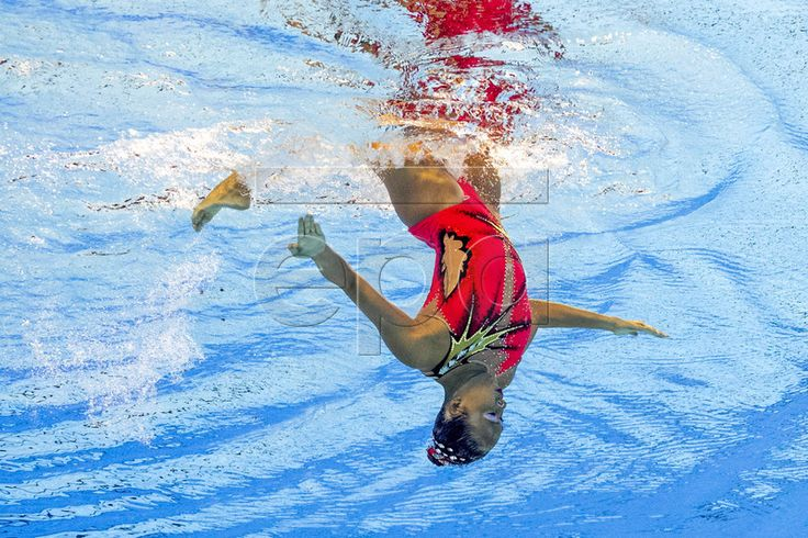 epa06093422 Debbie Soh of Singapore performs during the Women's Solo Technical Synchronized (synchronised) Swimming Preliminary Free Routine of the 17th FINA World Championships 2017 in Budapest, Hungary, 17 July 2017. EPA/PATRICK B. KRAEMER