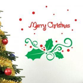 Αυτοκόλλητο τοίχου - βιτρίνας Merry Christmas No2
