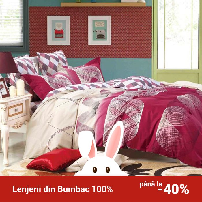 Lenjerie de pat din bumbac Valentini Bianco TB010/61