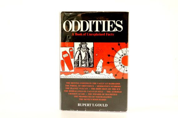 Vintage Oddities A Book of Unexplained Facts, Third Edition from 1964 by ThirdShift - creepy cool book for Halloween!