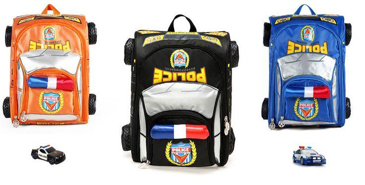 3d Animated Police Car Bag Backpack Reflective Transformer Boy Girl Ages 6-12 #Unbranded #Backpack
