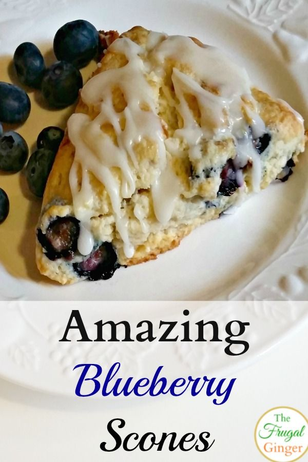 This is the best blueberry scone recipe that I have made. I love the yummy lemon glaze on top! It's an easy breakfast idea and perfect for brunch!
