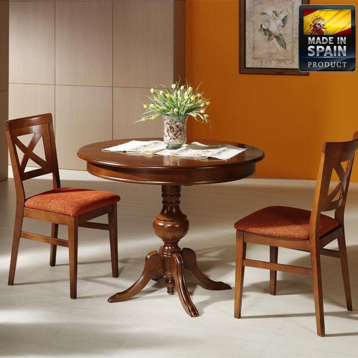 Las 25 mejores ideas sobre mesas de comedor redondas en - Mesas de madera redondas extensibles ...