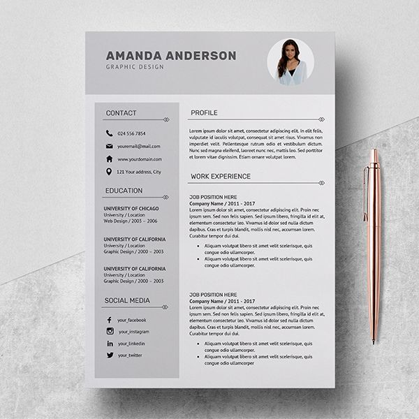 Resume Template Professional Cv Template Cover Letter Etsy Resume Template Professional Resume Template Cv Template