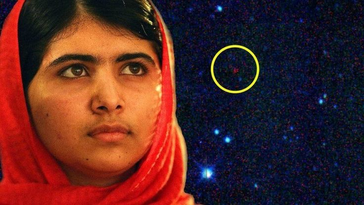 Asteroid 316201 has been named by its discoverer, NASA astronomer Amy Mainzer. She named it for Malala Yousafzai, a Pakistani teenager who campaigns for education for girls. She's 17 and has already survived an assassination attempt by the Taliban and been awarded a Nobel Prize. The asteroid is circled.