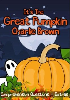 "This 7 page movie guide for grades 1, 2, 3 and 4 accompanies the Halloween animation ""It's the Great Pumpkin, Charlie Brown"" This includes: • 15 comprehension questions to complete during the movie • Word search • Jack-o-lantern design • Writing a letter"