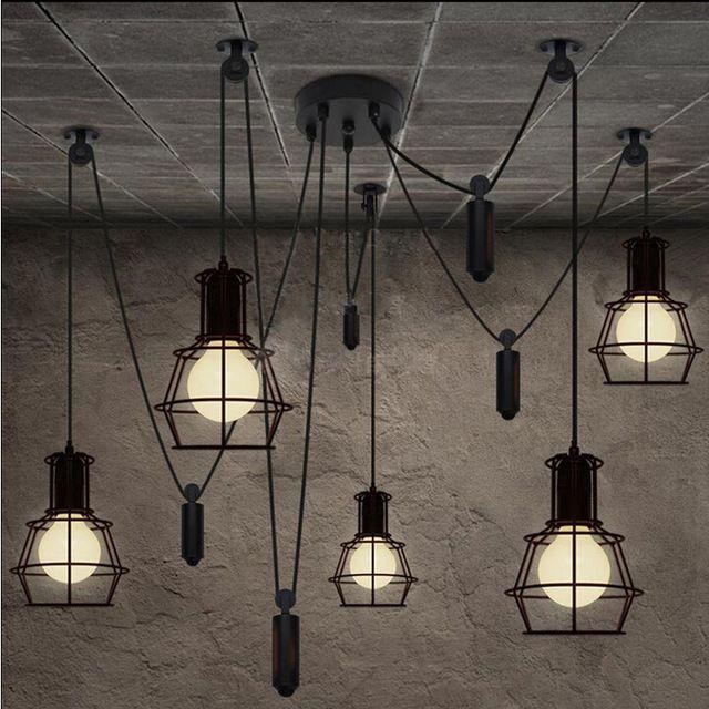 Loft-Style-Industrial-hierro-jaulas-luz-colgante-barra-de-Bar-desván-de-la-lámpara-del-alambre.jpg_640x640.jpg (640×640)