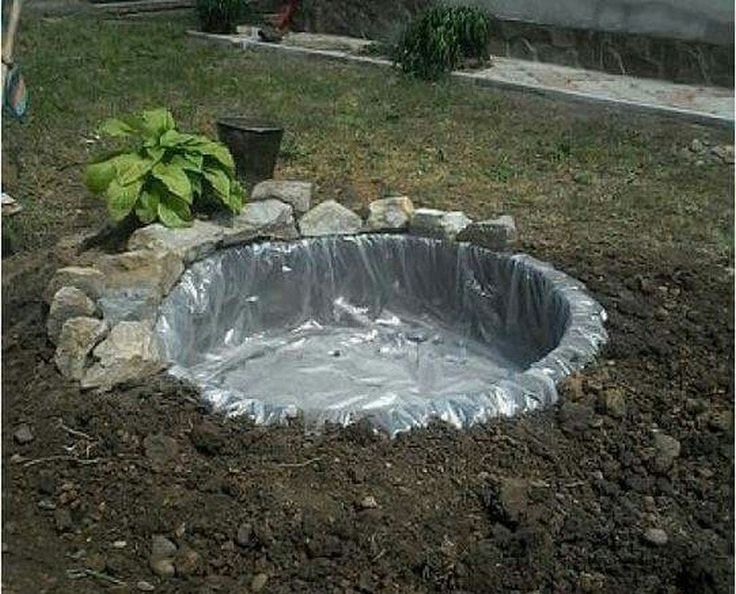 DIY Recycled Tires Pond | The Owner-Builder Network