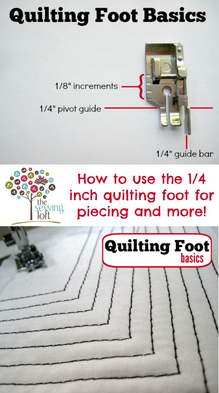 Quilting for beginners. Fundamentals of the 1/4 inch quilting foot. Did you know that it can be used for so much more than just piecing? It actually is really great for creating perfect parallel lines as well as top stitching, quilting itself and lots more.