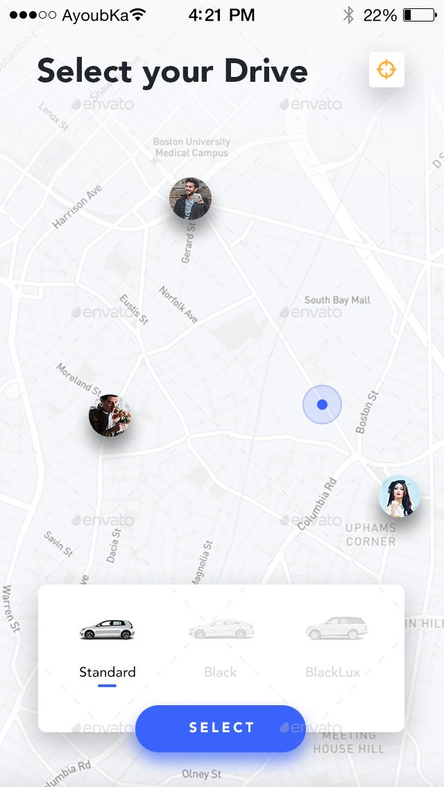 Drive - Mobile App UI Kit Design | Drive app | Mobile app ui, App ui