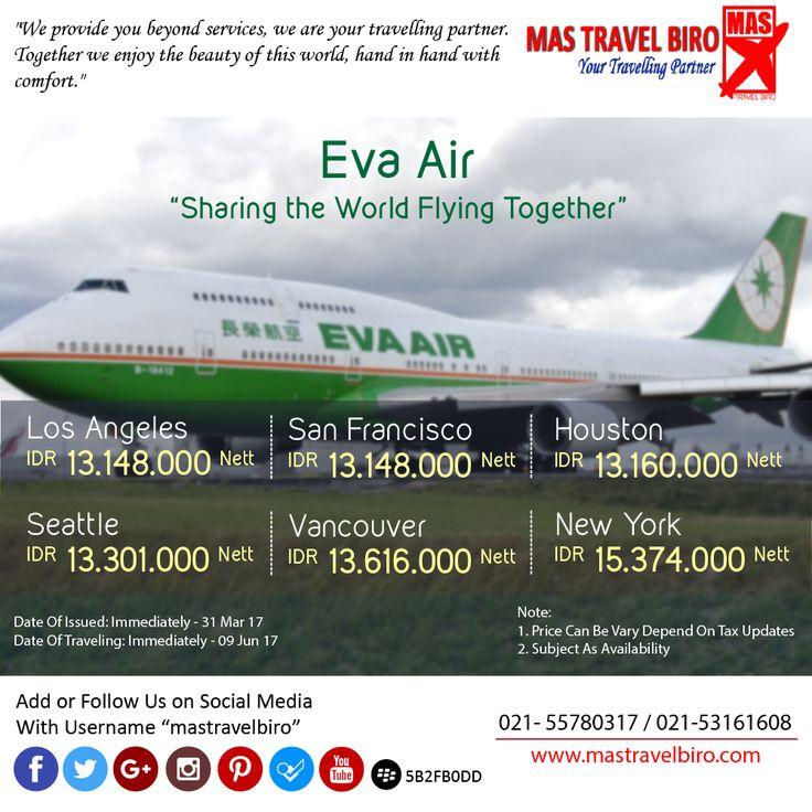Jelajah Amerika Naik Eva Air , Cek Promonya Dibawah ini ;) #mastravelbiro #promo #evaair #amerika #tiketmurah