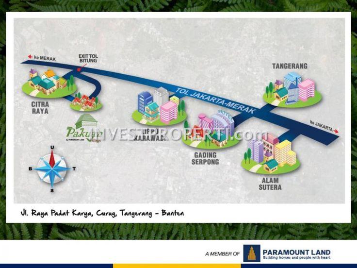 Peta lokasi Pakuan Village Paramount di Curug Tangerang.