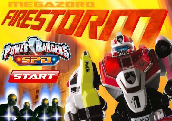 Power Rangers Megazord Firestorm game online