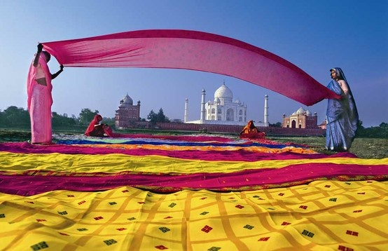 A view of Taj Mahal, Agra.