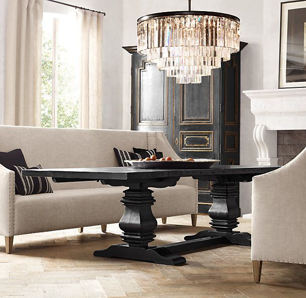 Maarten Upholstered Settee and Table  | Restoration Hardware
