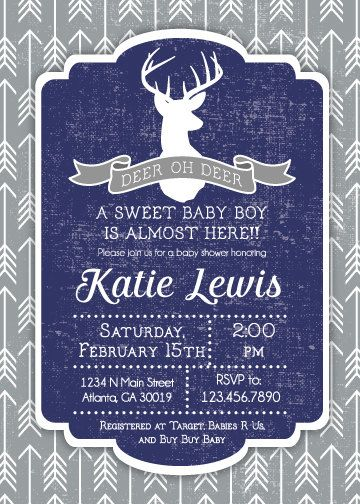 18 best baby shower images on pinterest | woodland baby showers, Baby shower invitations