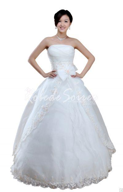 Robe de Mariée A-ligne-Robe de Mariée 2012,Blanc-Ivoire-Rose-Champagne,robe