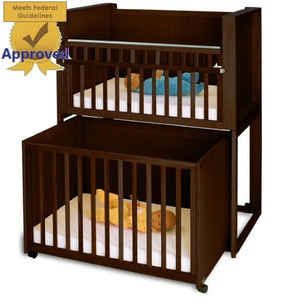Two Unit Infant Daycare Bunkie Crib Stacking Cribs
