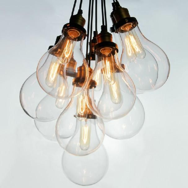 Big Bulbs Cluster Pendant Light Chandelier Tudo Co Tudo And Co Light Bulb Chandelier Antique Ceiling Lights Glass Shade Pendant Light