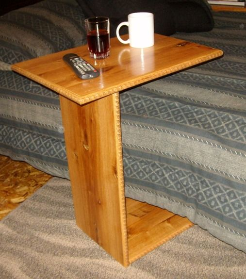 Free tray table plans how to build a tv tray table for Sofa side table designs