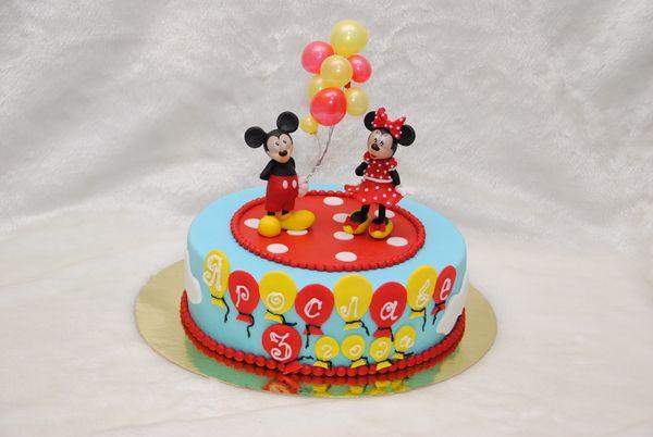 Торт с Микки и Минни Маус - Кондитерская - Babyblog.ru