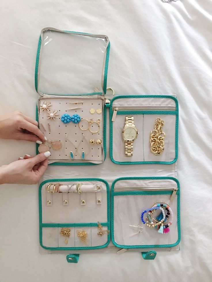 Showing the best ways to organize jewelry for long trips on BTD  http://www.brightontheday.com/30632/how-to-pack-jewelry-for-travel?utm_campaign=coschedule&utm_source=pinterest&utm_medium=Brighton%20Keller%20%2F%2F%20BrightonTheDay%20Blog&utm_content=how%20to%20pack%20jewelry%20for%20travel