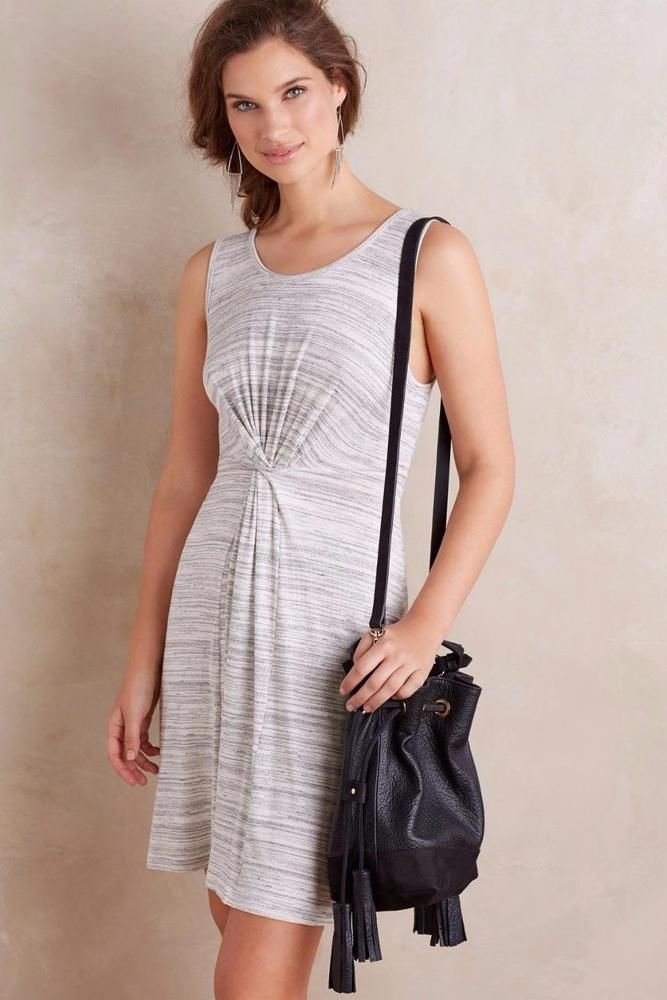 NEW Anthropologie Dress Loop Front Amadi Grey Sleeveless Size L Large $138 NWT #Anthropologie #Pullover #Casual