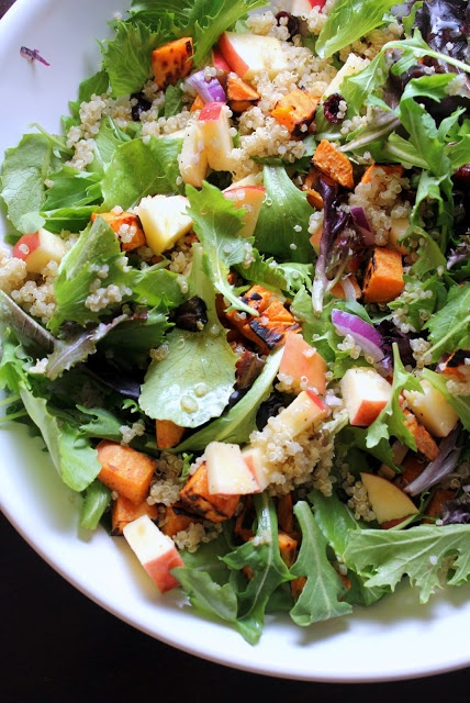 Roasted Sweet Potato, Apple, and Quinoa Salad with Maple ...