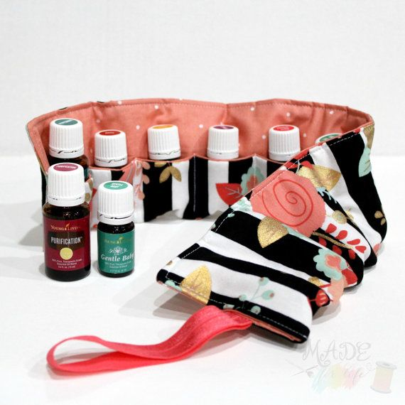 Essential Oil Carrying Case - Essential Oil Roll Up - Essential Oil Travel Case - Essential Oil Organizer - Storage for Oils - Pouch - Bag