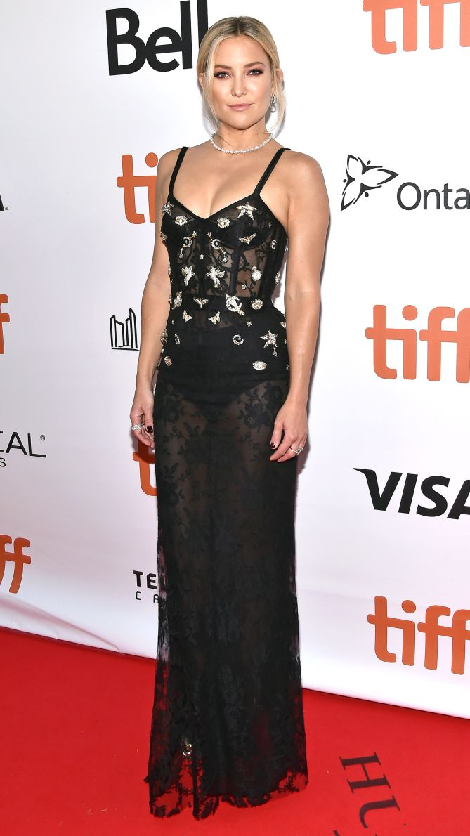 TIFF 2016 Best Dressed on the Red Carpet - Kate Hudson in a black beaded dress