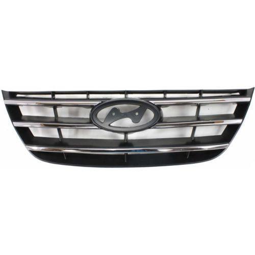 2009-2010 Hyundai Sonata Grille, Chrome, Painted-Black