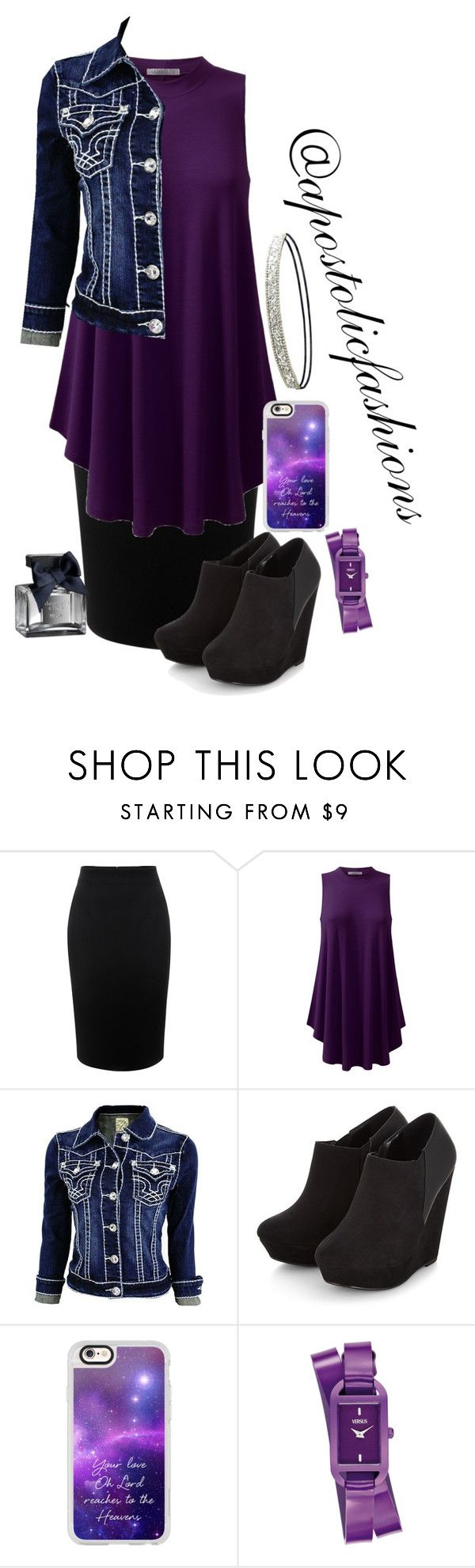 """""""Apostolic Fashions #1437"""" by apostolicfashions on Polyvore featuring Alexander McQueen, Casetify, Versus, Abercrombie & Fitch and Charlotte Russe"""