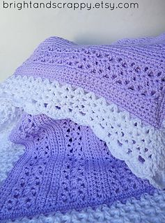 A lacy, girly baby blanket perfect for beginners! Uses only basic stitches, but comes out looking far more intricate.