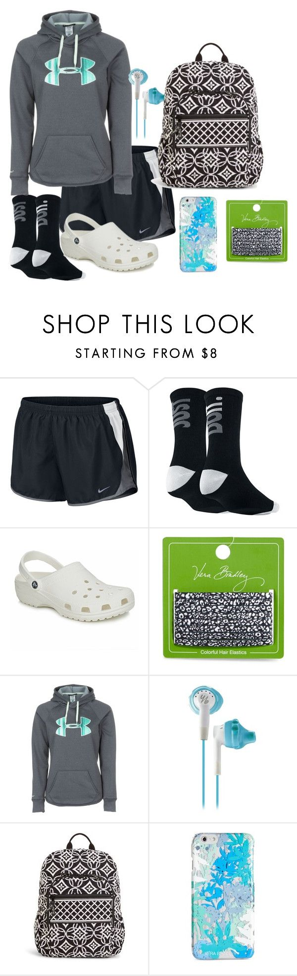 """Crocs"" by nknudson-04 on Polyvore featuring NIKE, Crocs, Vera Bradley and Under Armour"