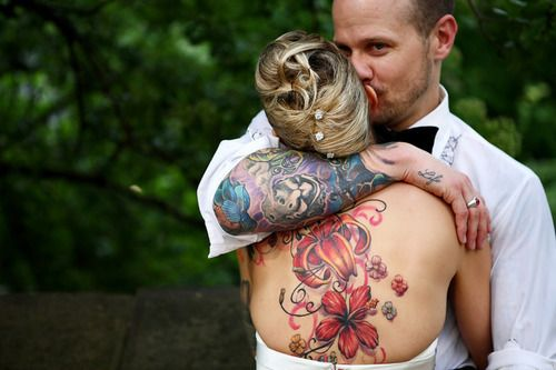 D'awwww, bride and groom are tattoed.