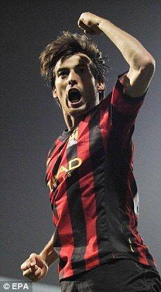 David Silva..Man city beat qpr at qpr, 3-2, MCFC❕