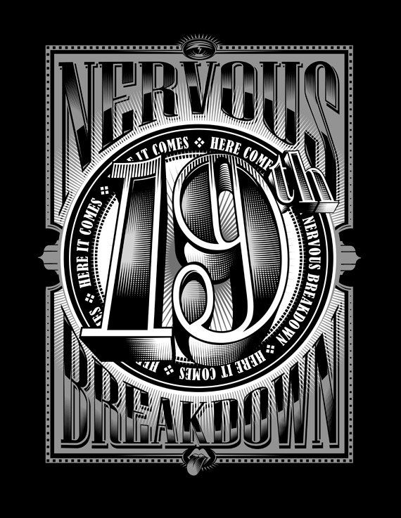 Rolling Stones t-shirt 19th Nervous Breakdown by VincentCarrozza
